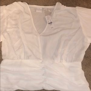 Never worn NWT - NY AND COMPANY WHITE  BLOUSE